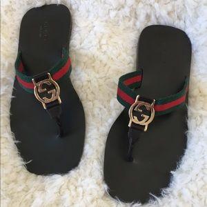 756f3be15577 Gucci Shoes - Gucci web strap thong sandal sz 6